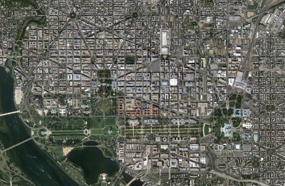 The Subtle Beauty of Planned Cities - Aleph on coordinates of washington dc, air view of washington dc, geoeye washington dc, aerial view of washington dc, city of washington dc, ikonos washington dc, google earth washington dc, satellite maps of my house, latitude of washington dc, layout of washington dc, peninsula washington dc, relative location of washington dc, home of washington dc, absolute location of washington dc, virtual tour of washington dc, overhead view of washington dc, google maps washington dc, aerial map of dc, hotels of washington dc, elevation of washington dc,