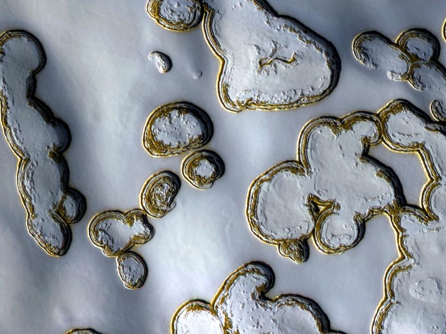 Marte hielo seco