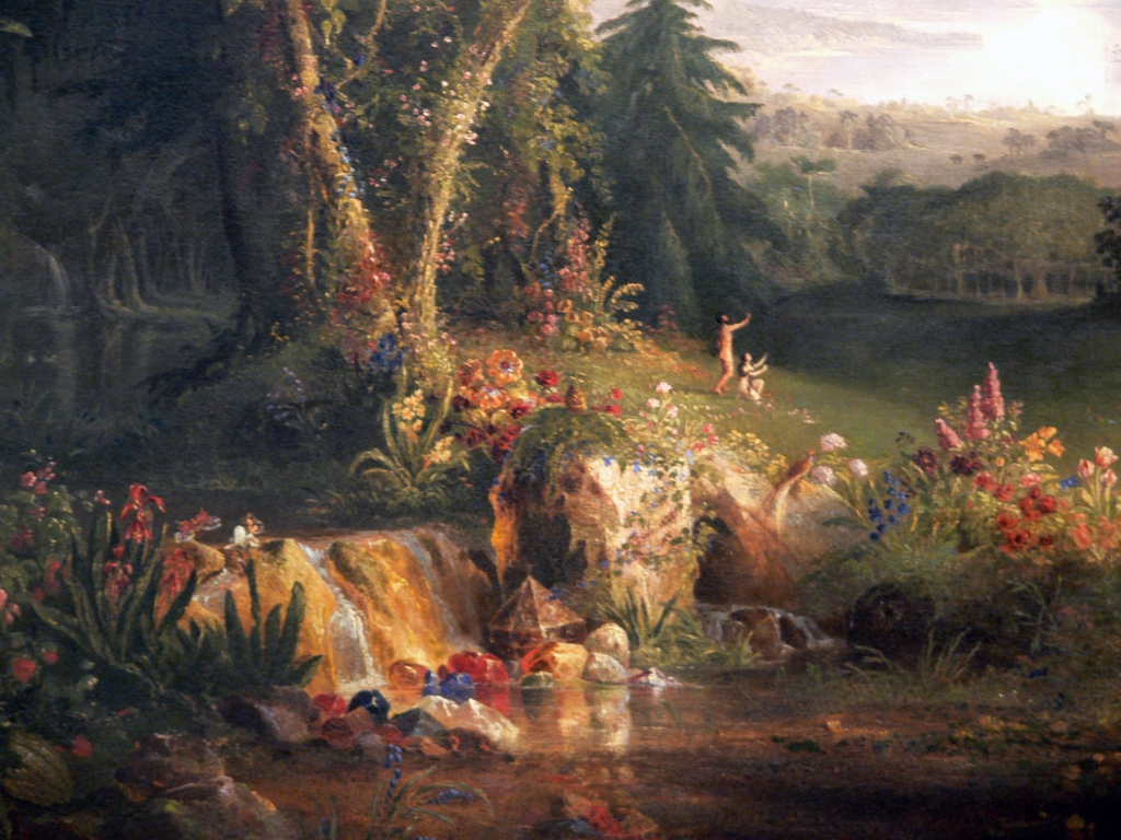 Thomas_Cole_The_Garden_of_Eden_detail_Amon_Carter_Museum