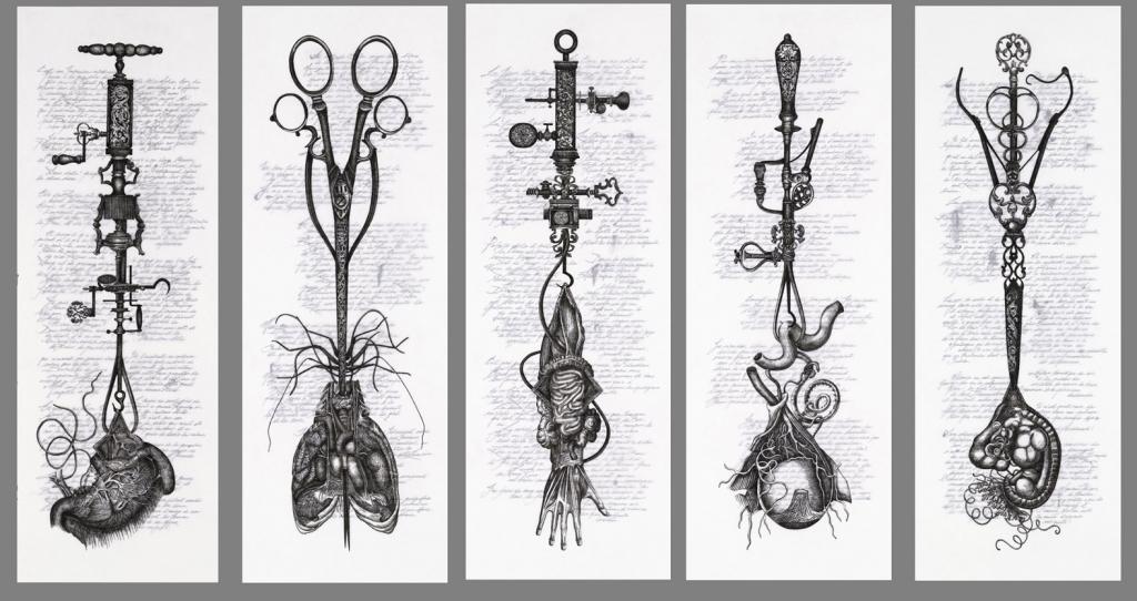 5 drawings 55x155each