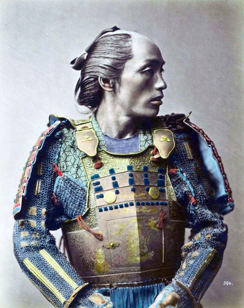 A Japanese Samurai warrior.