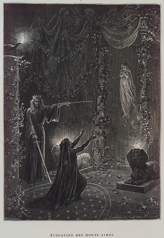 Évocation-des-Morts-Aimés-Summoning-of-the-Beloved-Dead-by-Paul-Christian-in-Histoire-de-la-magie-History-of-Magic-Paris-1870.