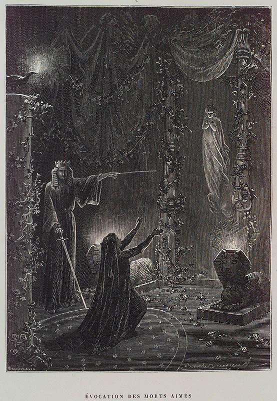 Évocation-des-Morts-Aimés-Summoning-of-the-Beloved-Dead-by-Paul-Christian-in-Histoire-de-la-magie-History-of-Magic-Paris-1870.