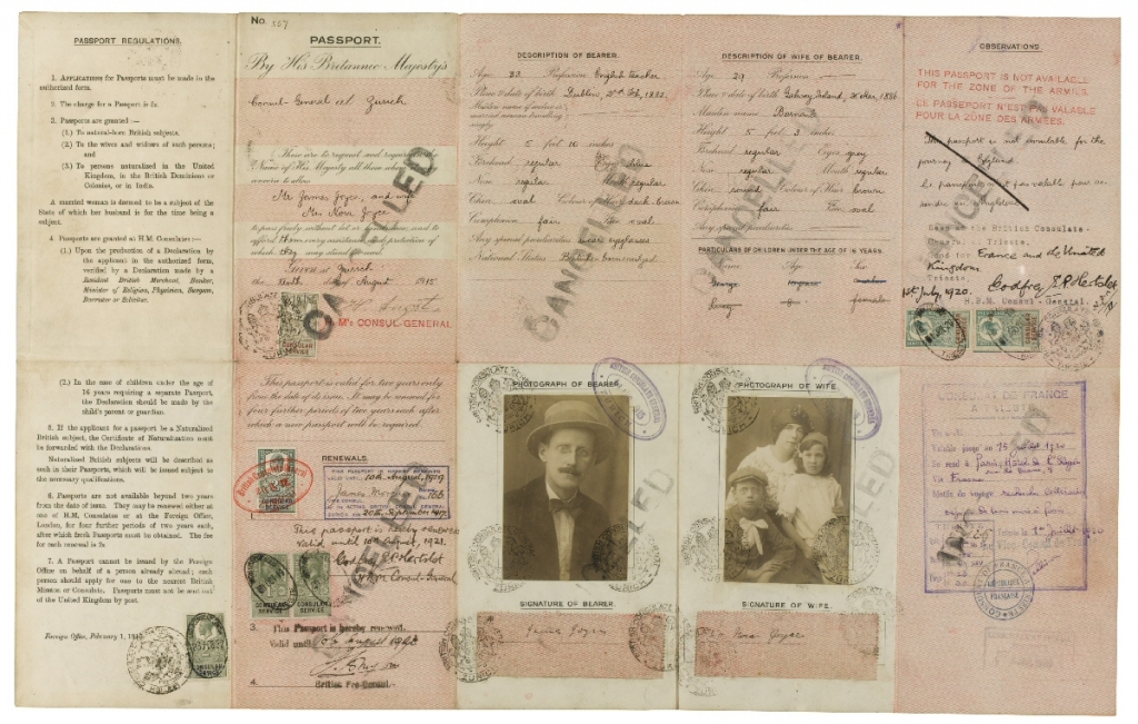 JAMES-JOYCE-WARTIME-FAMILY-PASSPORT