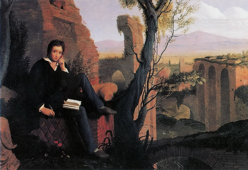 posthumous-portrait-of-shelley-writing-prometheus-unbound-in-italy-by-joseph-severn-1845