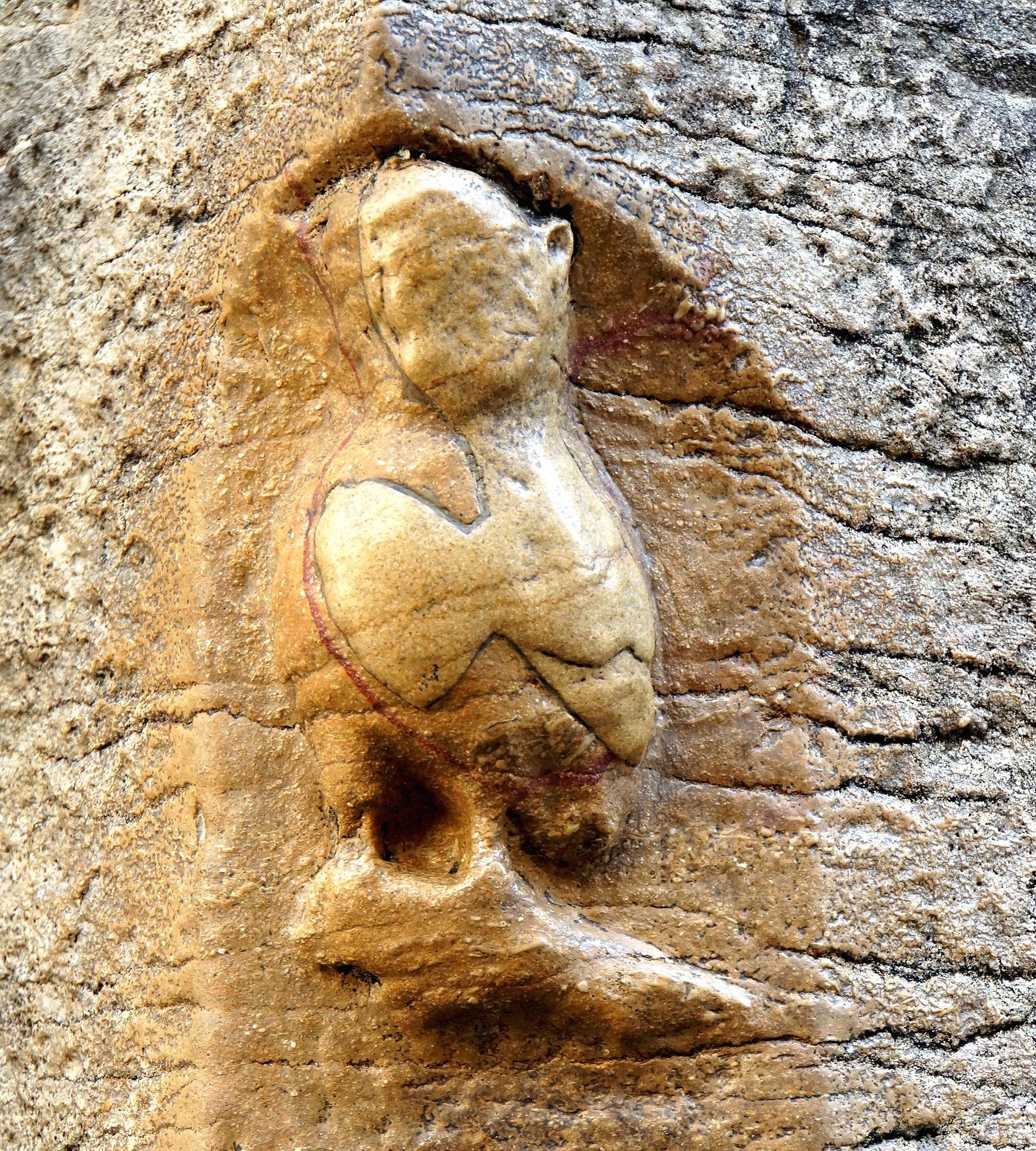 Vintage hand carved plaque of owl on open book light depop