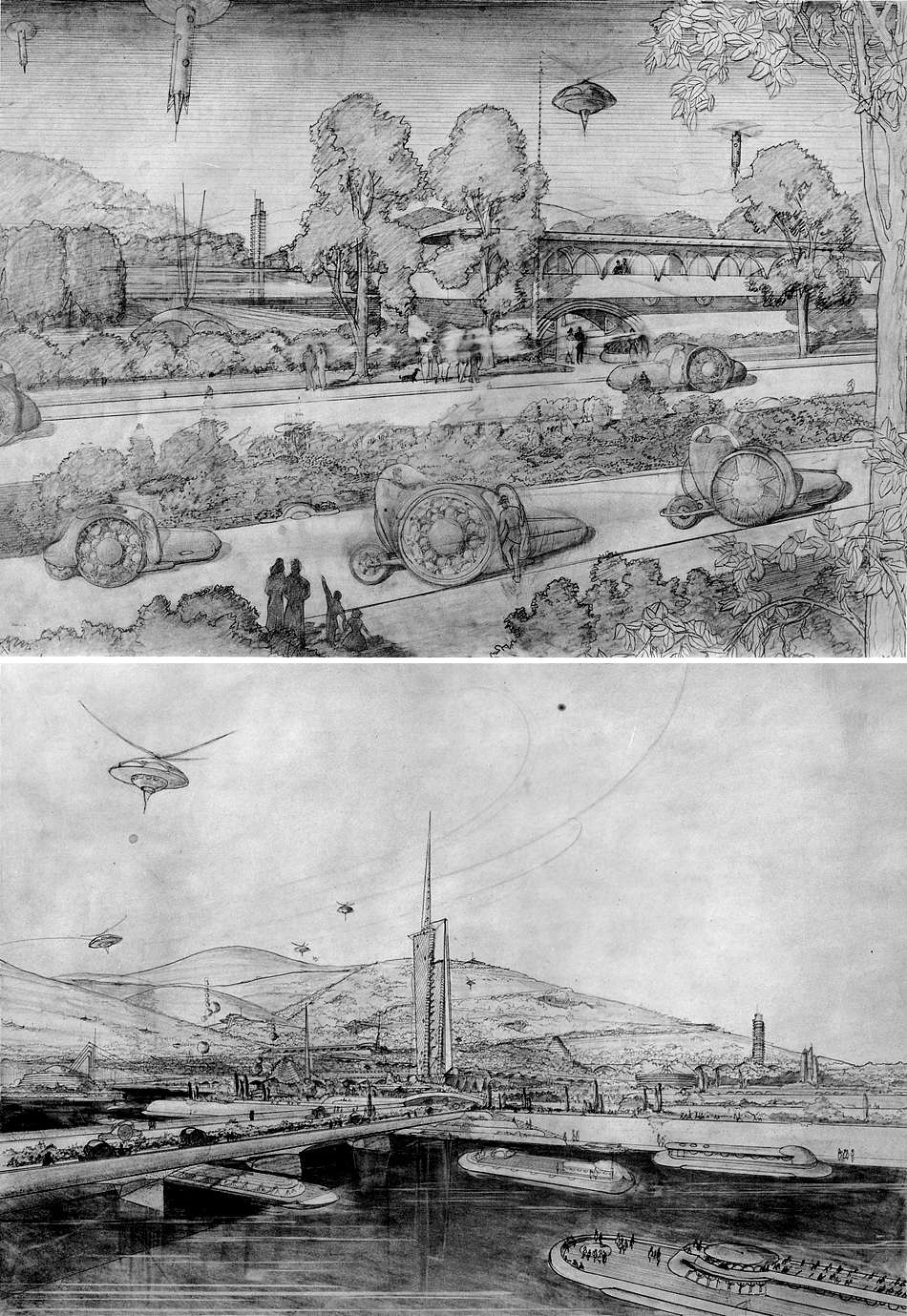 wright_sketches_for_broadacre_city